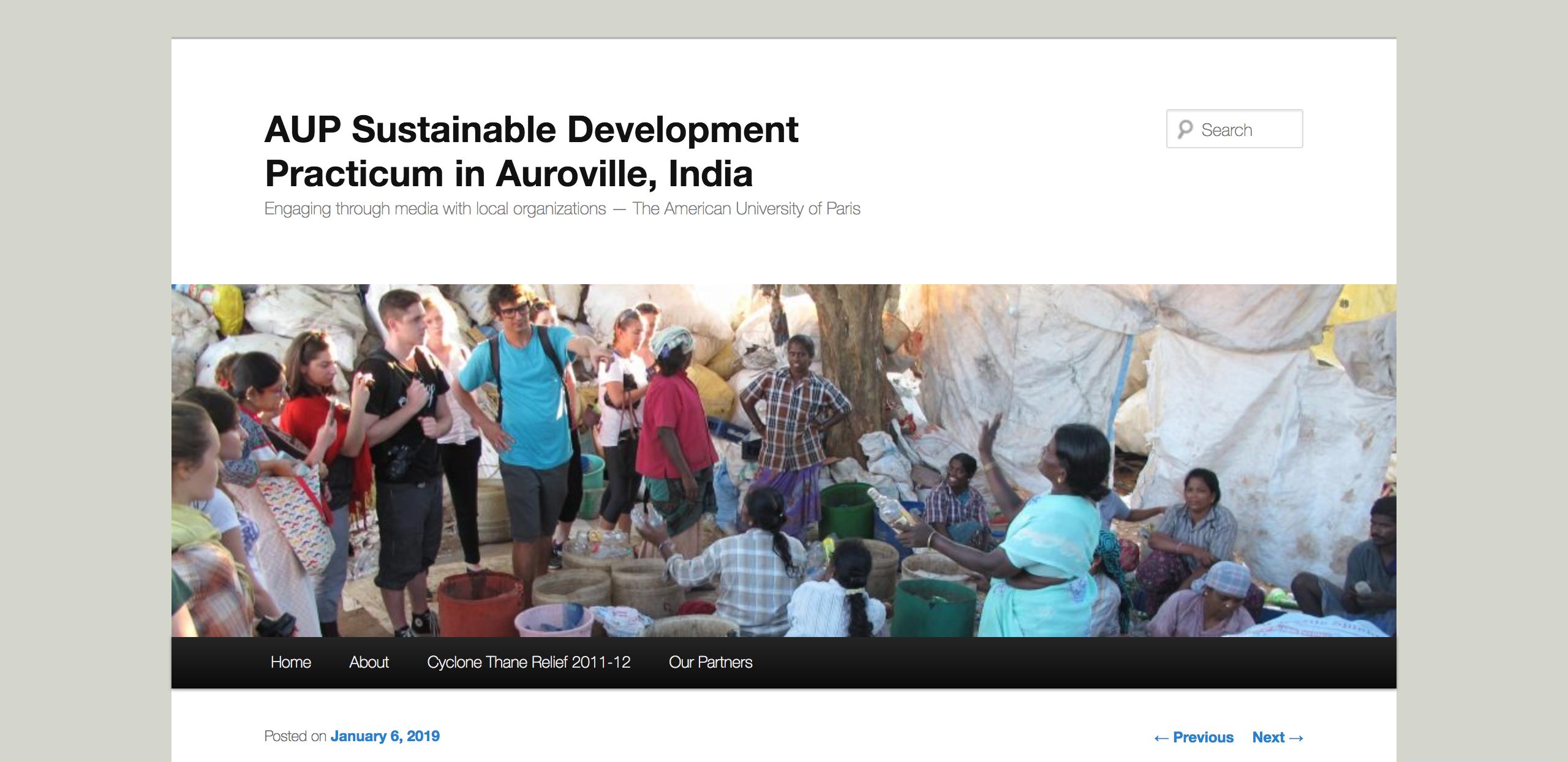 AUP Sustainable Development Practicum in Auroville, India